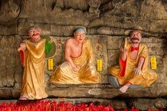 Banan District, Chongqing City, cueva de East River Buda salta océano de cinco paños imagen de archivo libre de regalías