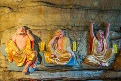 Banan District, Chongqing City, cueva de East River Buda salta océano de cinco paños Imágenes de archivo libres de regalías