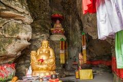 Banan District, Chongqing City, East River salta cueva de Buda Buda de cinco paños imagen de archivo libre de regalías