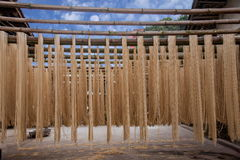 Banan District des riches de ville de Chongqing handcrafted l'atelier de nouille de vermicellis Photos stock