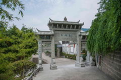 Banan District, orilla del este salta arco popular oriental Chongqing de Chongqing del hotel del balneario del área turística del Foto de archivo