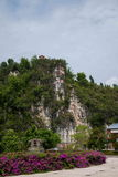 Banan District, orilla del este salta distrito turístico del paño del centro turístico y del balneario cinco de Chongqing fotografía de archivo