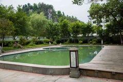 Banan District, Ostflußufer entspringt touristischer Bezirk des Erholungsort- u. Badekurortfünf Stoffes von Chongqing, Chongqing  Stockbild