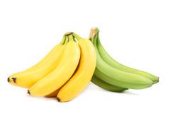 Banan för nya frukter på vit bakgrund Arkivbild