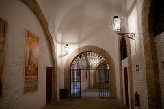 Banan inom tjurfäktningsarenan i Seville, Spanien, Europa fotografering för bildbyråer