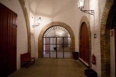 Banan inom tjurfäktningsarenan i Seville, Spanien, Europa arkivfoton