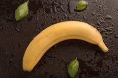Banan- och basilikasidor Arkivfoto