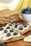Banan och blåbär Royaltyfria Foton