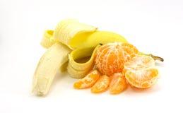 Banan och tangerin Royaltyfri Foto