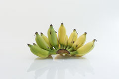 Banan odizolowywający jako biały tło fotografia stock