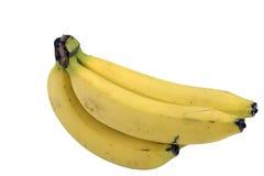 Banan på vitbakgrund Arkivfoton