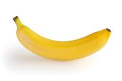 Banan på white Royaltyfria Foton
