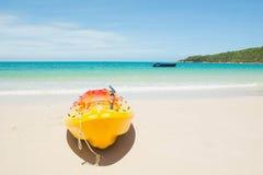 banan plażowe łodzi Fotografia Royalty Free