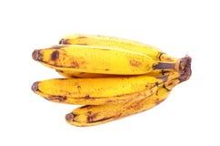 banan som isoleras över mogen white Arkivbild