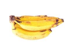 banan som isoleras över mogen white Royaltyfria Bilder