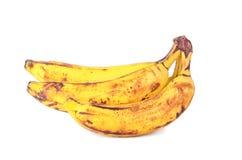 banan som isoleras över mogen white Fotografering för Bildbyråer