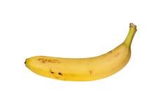 Banan som isoleras på bakgrund Arkivfoto