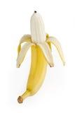 Banan som isoleras på white Fotografering för Bildbyråer
