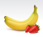 banan truskawki Fotografia Stock