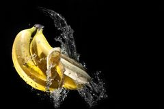 Banan on water Stock Images