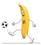 Banan z futbolem royalty ilustracja