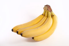 Banana. Fresh yellow bananas isolated on white background Stock Photos
