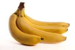 Banana. Fresh yellow bananas isolated ob white background Royalty Free Stock Image