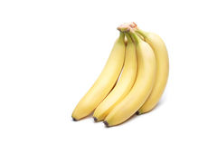 Banana. The branch of bananas on white background royalty free stock photo