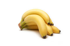 Banana. The branch of bananas on white background Royalty Free Stock Image