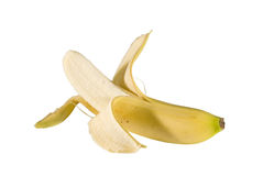 Banana. A isolated banana on white background Stock Photos