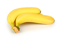 Banana. Bunch on white background Royalty Free Stock Photography