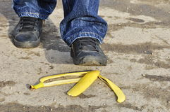 Banana. One of the most dangerous situation Stock Image