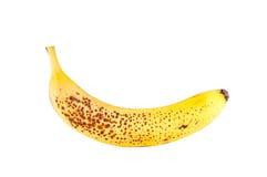 Banana. One banana isolated on white background Royalty Free Stock Images