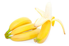 Banana. On a white background stock photography
