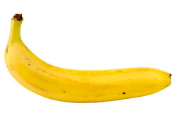 Banana. Isolated on white, clipping path included Royalty Free Stock Images