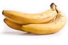 Banana. 3 Bananas fruit on white background Royalty Free Stock Photography