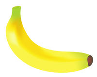 Banana. No mouthwatering banana illustration background Stock Photography