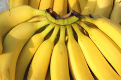 Banana. The close-up of ripe banana Royalty Free Stock Image
