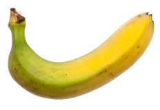 Banana. A big banana isolated on white background Royalty Free Stock Photo
