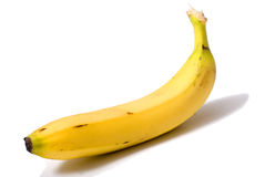 Banana. Yellow banana,  on white background Stock Photo