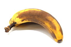 Banana. An  view of a banana turning brown and starting to rot Royalty Free Stock Photos