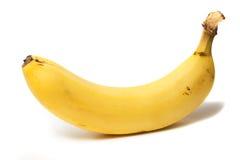 Banana. The single banana isolated on white background Royalty Free Stock Images