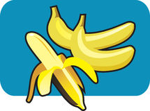 Banana. Icon of banana, vector illustration Stock Photo