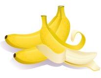 Banana. Vector illustration - Three ripe bananas Stock Photo