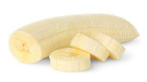 Banana affettata fotografia stock