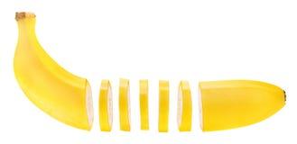 Banana affettata Immagini Stock