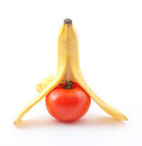 Banana And Tomato Royalty Free Stock Images