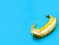 Banana aperta la chiusura lampo di Immagine Stock