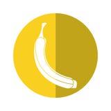 Banana appetizing fruit nature yellow circle shadow Stock Photography