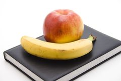Banana with apple Royalty Free Stock Image